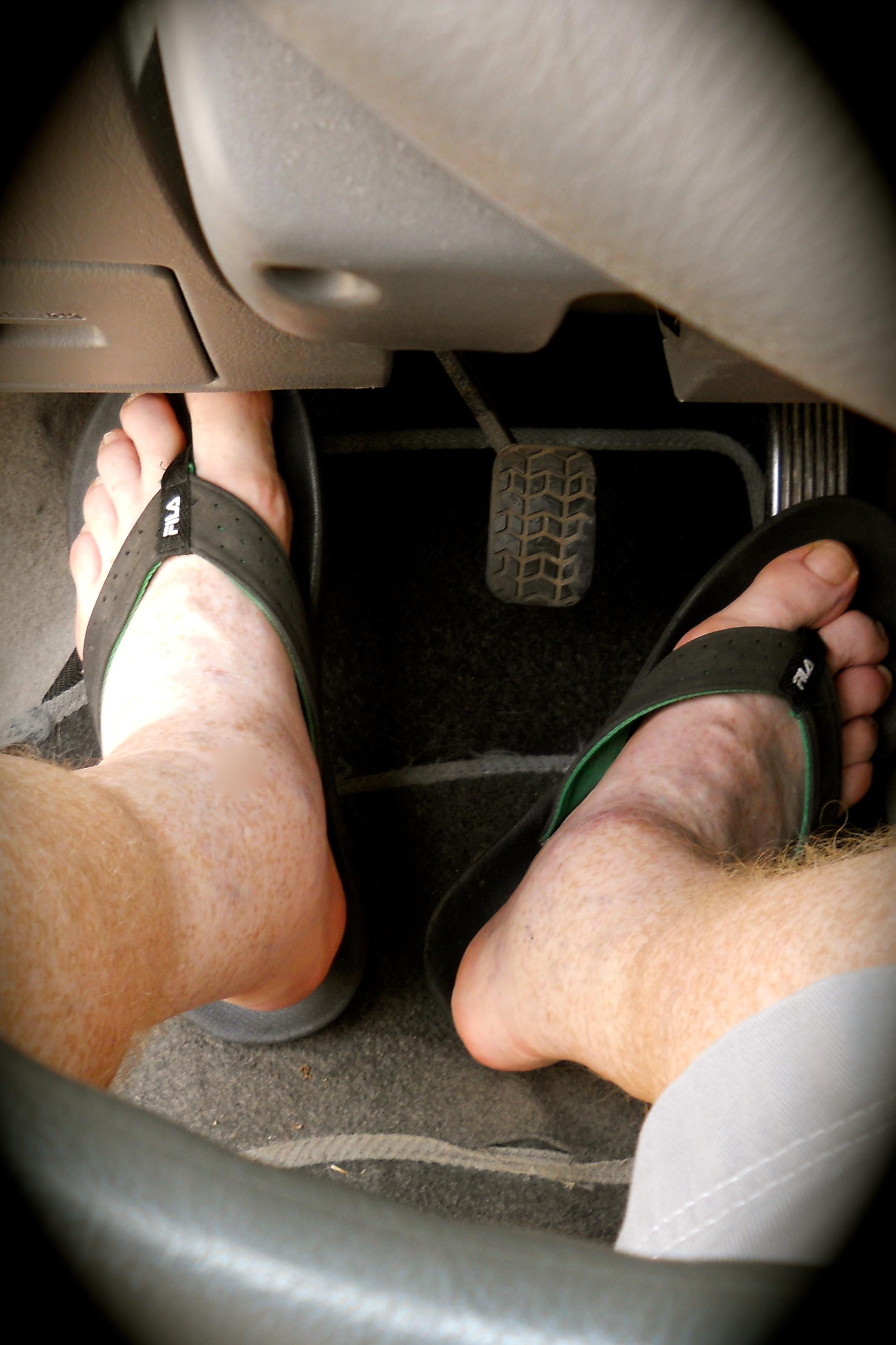 Driving in Greece in Flip Flops