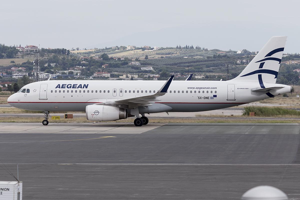 Aegean Airlines A320ceo Waiting Take Off Athens